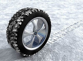 Picture of Winter Tire in snow