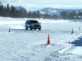 Truck Testing on Course in West Yellowstone